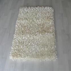 שטיחי שאגי לסלון - לבן