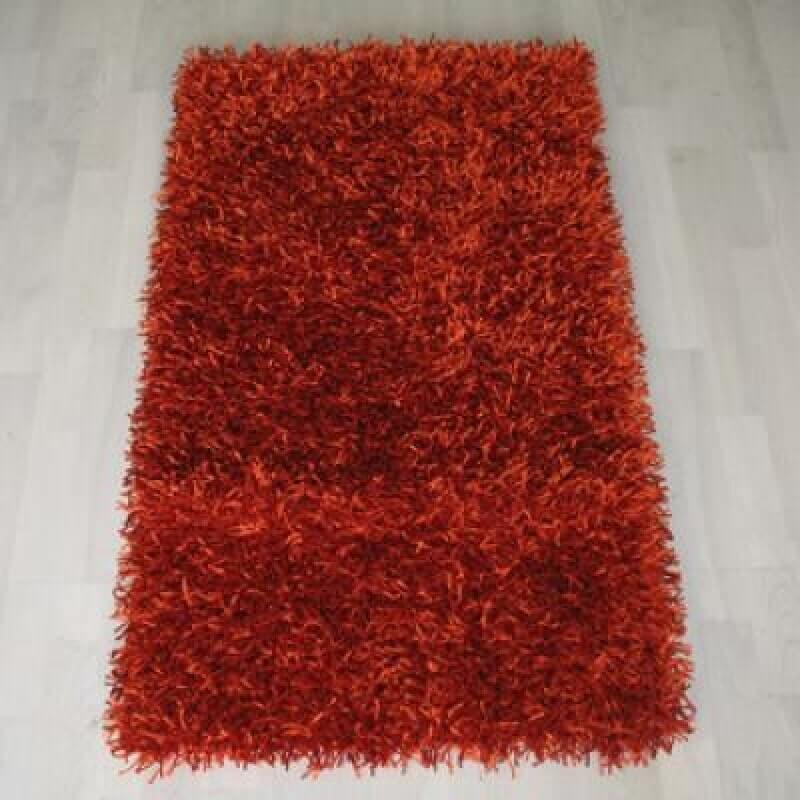 שטיח שאגי לסלון - צבע אדום