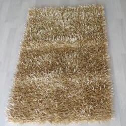 שטיחי שאגי לסלון - צבע זהב